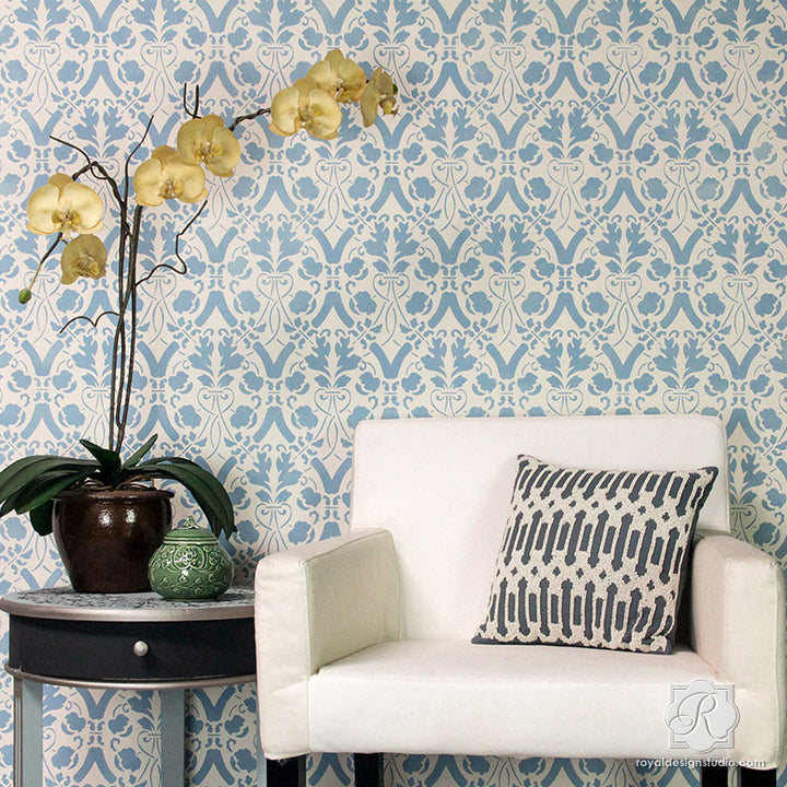 Entwined Trellis Wall Stencil