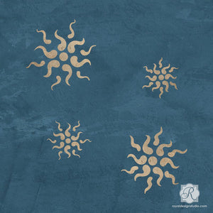 Stars Wall Art Stencils to Decorate Room with Italian Design - Royal Design Studio