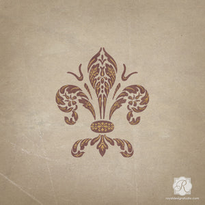 Painted Furniture Stencils - Italian Design and Classic Fleur de Lis Decor - Royal Design Studio