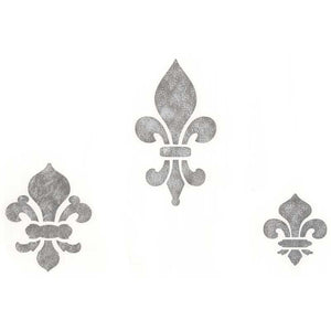 Classic Fleur de Lis Set 1 Stencils for European Design Crafts and Wall Art Decor - Royal Design Studio