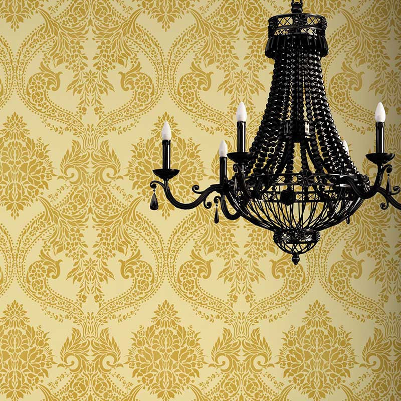 Victorian Design with Flowers - Damask Wall Stencils for Elegant DIY Home Decor