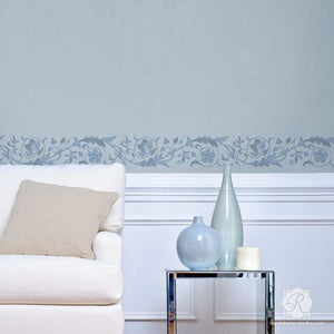 Paint a DIY border on walls with Italian border stencils - Royal Design Studio