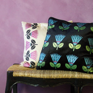 African Protea Flower Allover Wall Stencils for Colorful and Exotic Home Decor - Royal Design Studio