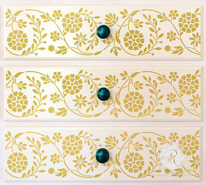 Flower Border Stencil by Royal Design Studio Wall Stencils