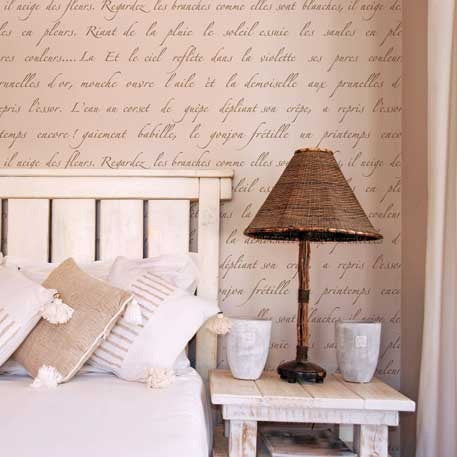 Wall stencils french wall quotes vintage design for Stencil x pareti