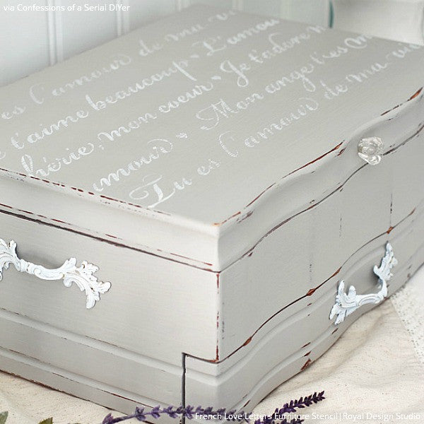 Classic French Quotes and Furniture Stencils for Easy Decorating - Royal Design Studio