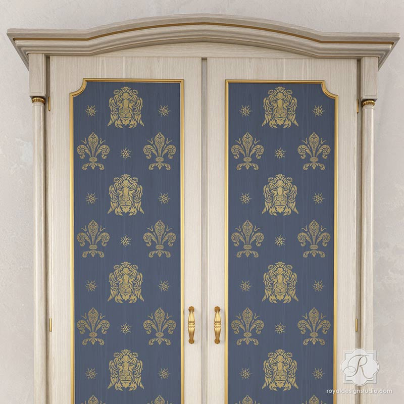 Traditional Italian Shields Furniture Stencils For Painting Doors,  Cabinets, And Tables   Royal Design ...