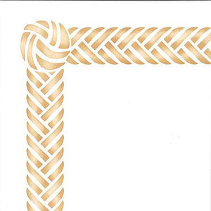 Classic Woven Braided Border and Knot Furniture Stencils - Royal Design Studio