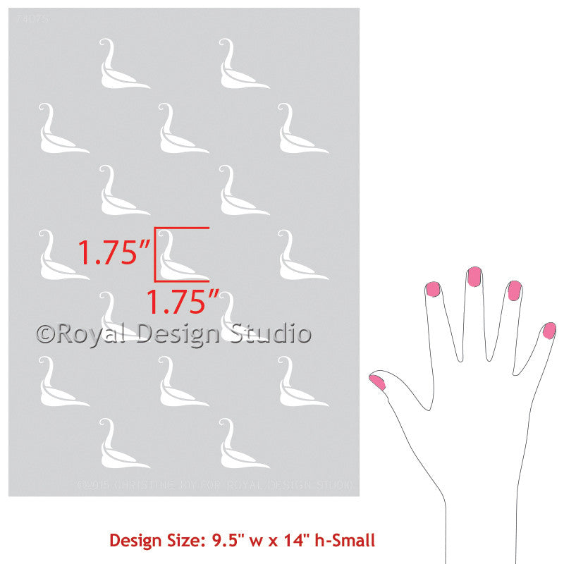 Bird Stencils for decorating Asian decor and painted furniture projects - Royal Design Studio