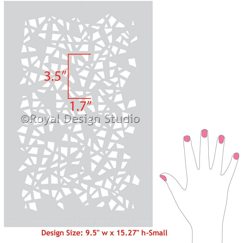 Decorate your home decor, nursery, or kids room with modern and geometric stencils - Royal Design Studio