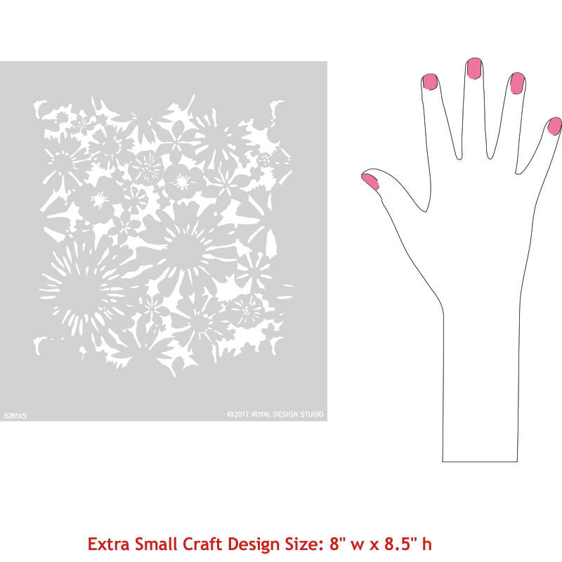 Hand Painting Small Designs on Crafts - Royal Design Studio Floral Stencils