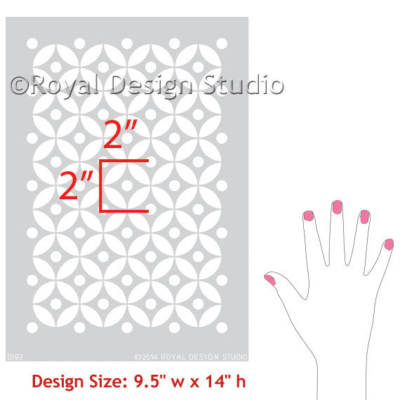 Indian-inspired Allover Furniture Stencil by Royal Design Studio Stencils