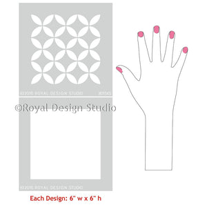 Modern and Geometric Home Decor Paint Projects - Endless Moorish Circles Moroccan Craft Stencils - Royal Design Studio