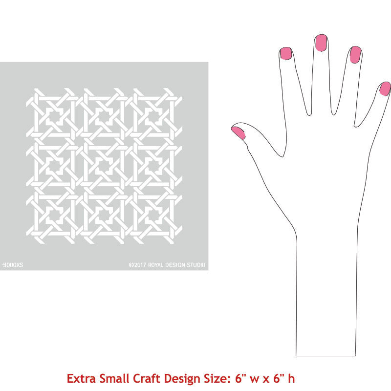 DIY Idea using Small Craft Stencils for Stenciling Custom Moroccan Designs - Royal Design Studio