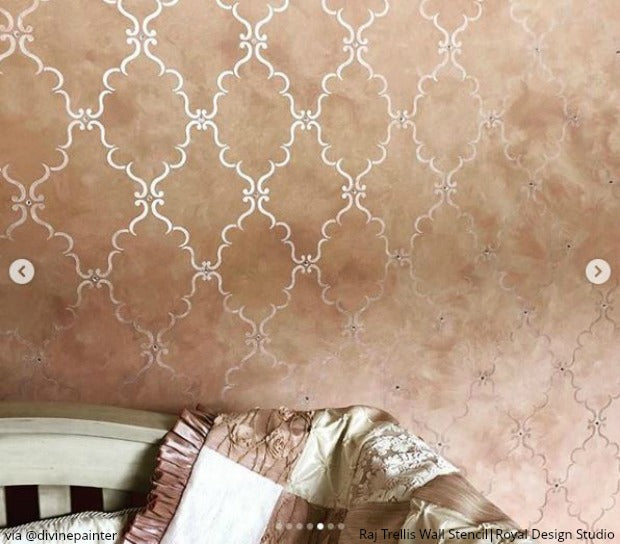 Raj Trellis Indian Wall Stencil