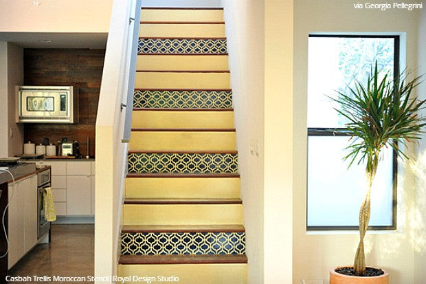 Modern Moroccan Painted Colorful Stairs - Royal Design Studio