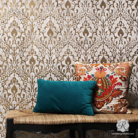 Damascus Allover Wall Stencil Royal Design Studio Stencils