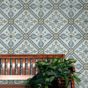 Art Decor and Greek Pattern Tile Stencil from Royal Design Studio