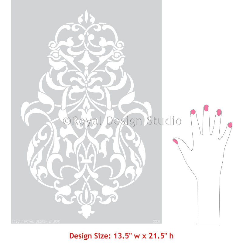 Turkish Wall Art Pattern Designs for Stenciling Accent Wall - Royal Design Studio