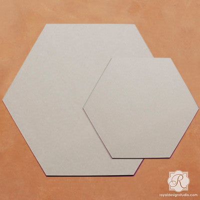 Designing, Painting, And Stenciling DIY Decor With Hexagon Wall Art Wood  Shapes   Royal