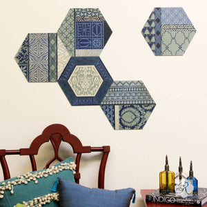 Designing, Painting, and Stenciling DIY Decor with Hexagon Wall Art Wood Shapes - Royal Design Studio
