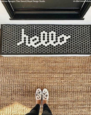 NEW! Hexagon Tile Floor Stencil