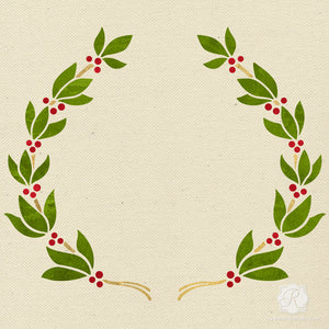 Christmas Leaf Vine Garland for Stenciling and Crafting - Royal Design Studio