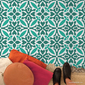 NEW! Island Dreams Tile Allover Stencil