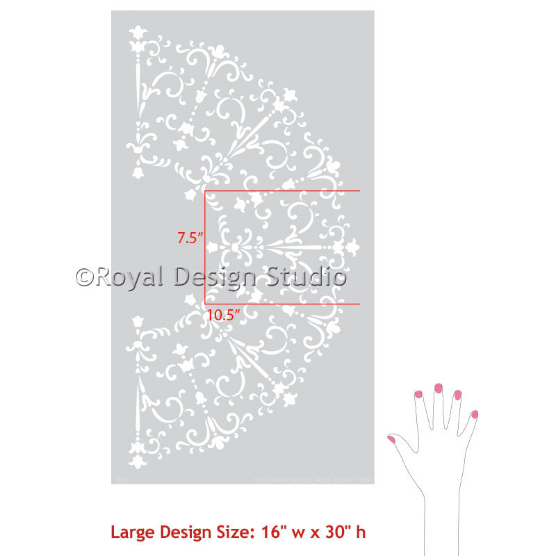 Large Ceiling Stencils for Painting Italian Style in Home Decor - Royal Design Studio