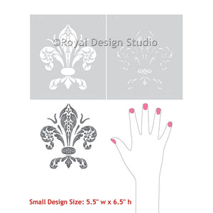 Classic Home Decor - Decorating Walls and Furniture with Fleur de Lis Stencils - Royal Design Studio