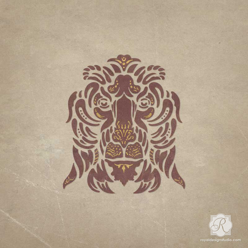 Decorating Italian Home Decor with Classic Lion Furniture Stencils - Royal Design Studio