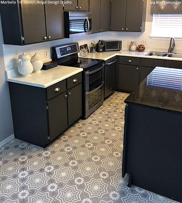 Tile Stencils For Walls, Floors, And DIY Kitchen Decor