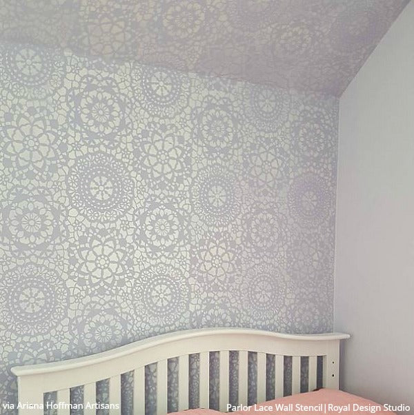 Parlor Lace Wall Stencil