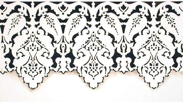 Turkish Designs Lace Border Furniture Stencils - Royal Design Studio