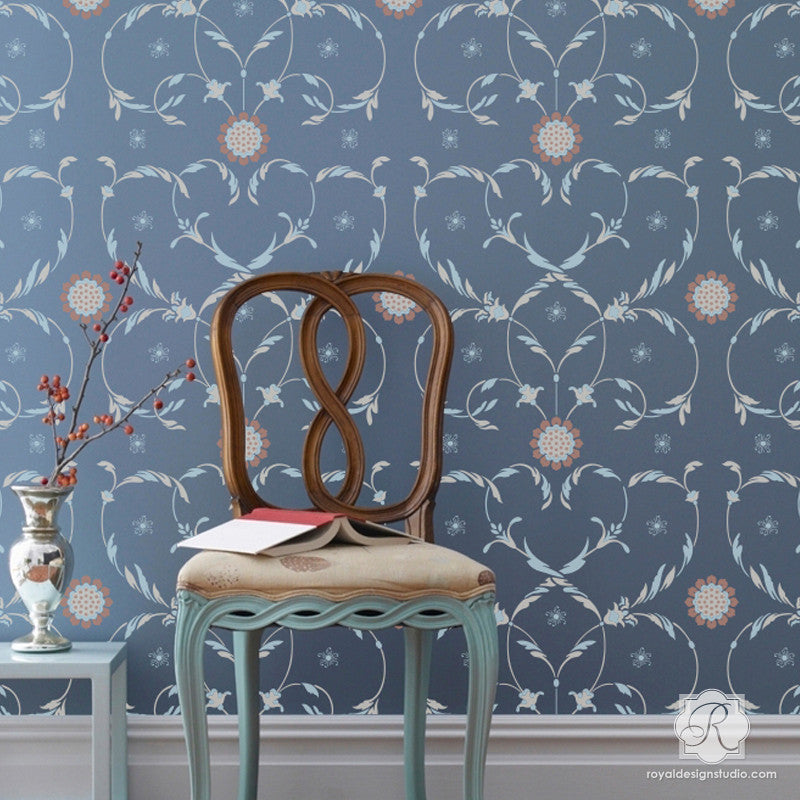 Italian Wall Stencils to Decorate Classic Home Decor - Royal Design Studio