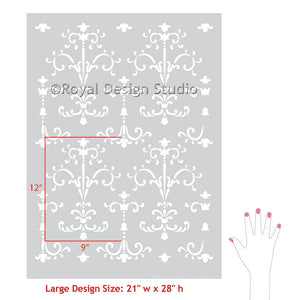 Painting Classic Italian Decor with Large Wall Stencils - Royal Design Studio