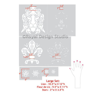 Paint Traditional European Home Decor with Classic Shields Stencils - Royal Design Studio