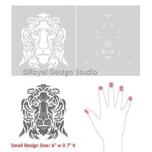 Small Furniture Stencils to Paint Italian Designs on Tables, Cabinets, and Dressers - Royal Design Studio