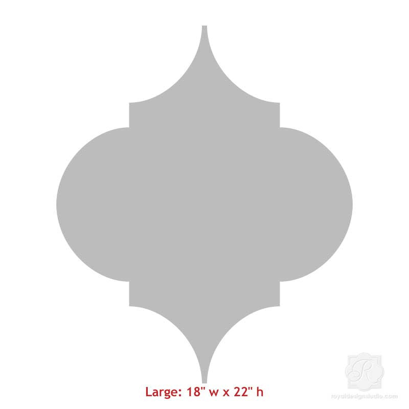 Large Trellis Wall Art Wood Shapes for Decorating Walls - Royal Design Studio