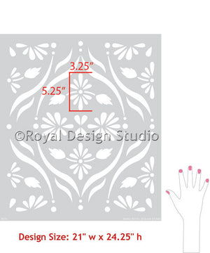 Paint your walls for DIY pattern with wall stencils - Royal Design Studio