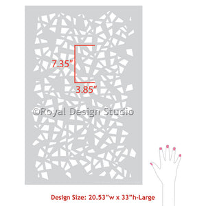 Trendy & Modern Wall Stencils for Baby Nursery or Kids Room Decor - Geometric Shapes Painted on DIY Decor - Royal Design Studio
