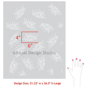 Stencil an accent wall with modern wall stencils - Nursery and Kids Room Decor - Royal Design Studio