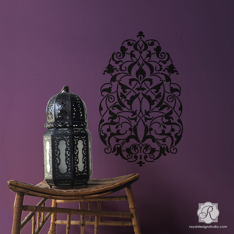 Moragon Ornament Wall Art Stencil