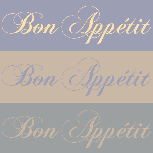 Kitchen and Dining Room Decor - French Letter Stencils Bon Appetit Saying - Royal Design Studio