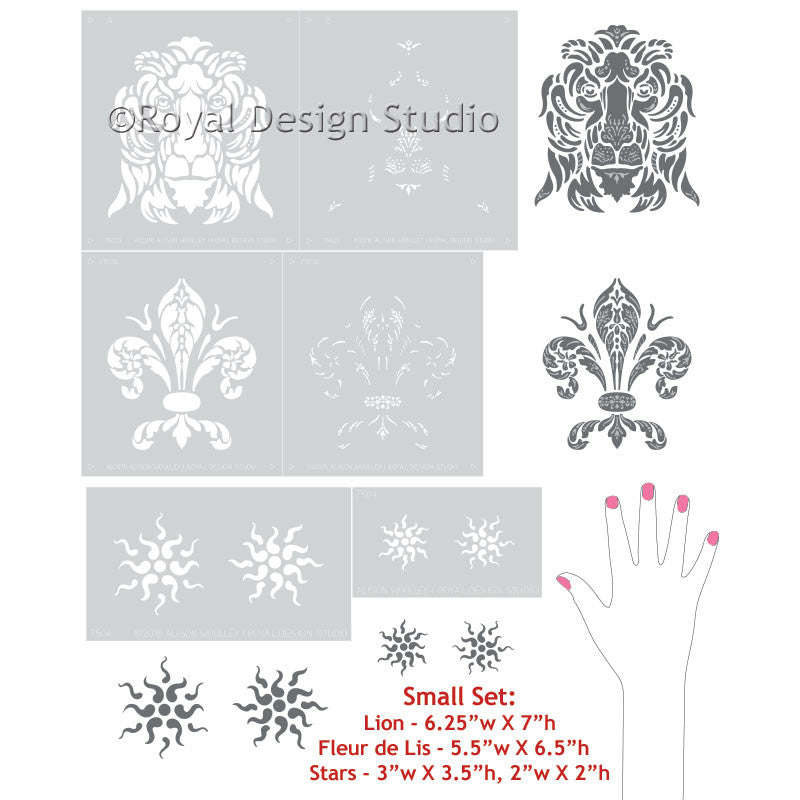 Classic Mural Stencils and Shields with Italian Style - Royal Design Studio