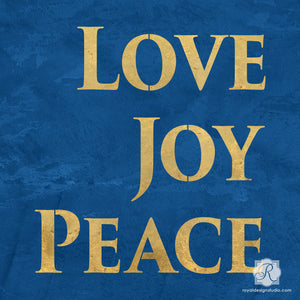 Love Joy Peace Typography Lettering Stencils for DIY Christmas Crafts