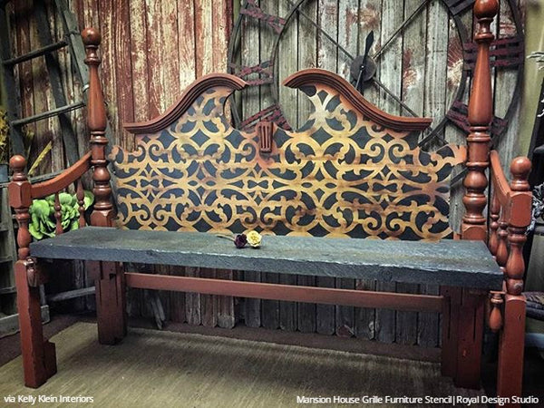 Exotic Trellis Furniture Stencils For Diy Painting Royal