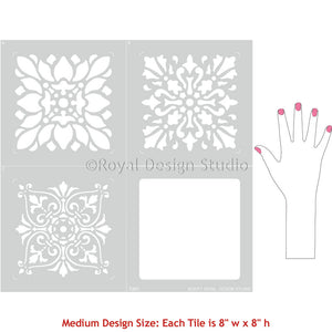 European Tile Stencils for Painting Custom Floor Pattern - Royal Design Studio