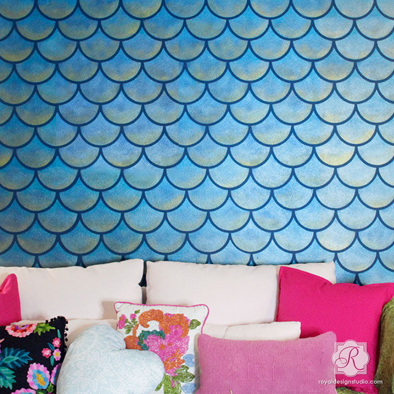 Moroccan Scallops Wall Stencil Royal Design Studio Stencils