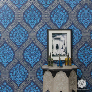 Macedonia Damask Wall Stencil